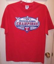 NWOT MLB Texas Rangers 2010 World Series AL Champions Baseball Red T-Shirt, L - $10.99