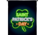 Saint Pat Neon - Impressions Decorative Metal Wall Hanger Garden Flag Set GS1373