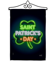 Saint Pat Neon - Impressions Decorative Metal Wall Hanger Garden Flag Se... - $27.97