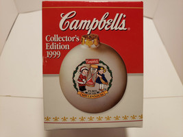 Campbells 1999 Christmas Kids Glass Ball Ornament Millennium Collectors ... - $7.25