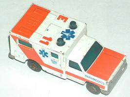 1977 Matchbox 1/64 Scale Die Cast Dial 911 Ambulance Paramedics China FR - $10.89