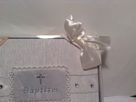 NEW Stephan Baby Pearl White Baptism Photo Album  image 4