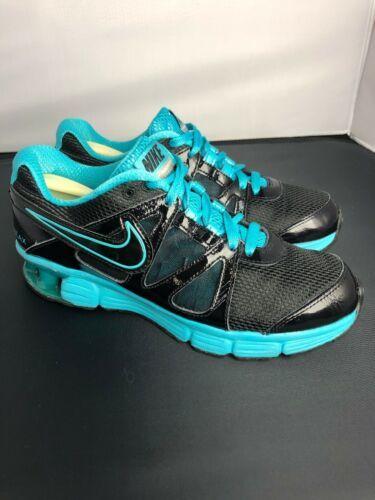 Nike Reax Rocket 2 Running Shoes 454175 004 Black Aqua Womens Size 8.5 image 3