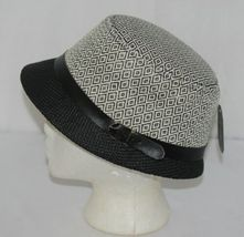 Howard's Brand Arianna Collection 89025 Women's Black And Cream Color Cloche Hat image 4