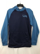 Under Armour Storm Sweatshirt Mens XS Extra Small Hoodie Navy Blue Turquoise New - $49.95