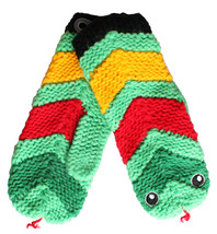 Neff Green Red Black Yellow Anamit Mitten Snake Winter Gloves F11732SNK NWT image 1