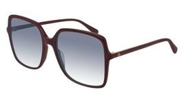 NEW Gucci Sunglasses GG0544S 003 Burgundy/Blue Lens Square 57mm - $183.33
