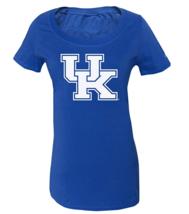 NCAA UK Kentucky Wildcats Women's Short Sleeve Spun Scoop Tee Royal Medium - $14.80