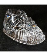 1 WATERFORD PAPERWEIGHT BABY SHOE Cut Lead Crystal - Signed - $36.86
