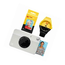 Kodak Printomatic Instant Print Camera (Grey) Watch Bundle - $123.99