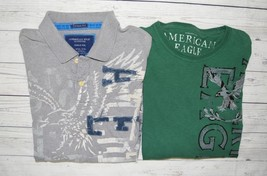 Mens XXL 2XL LOT AMERICAN EAGLE Tops SS Polo Shirt Long Sleeve Graphic Tee - $430,21 MXN