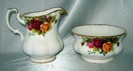 Royal Albert Old Country Roses Bone China Creamer & Sugar Bowl (England) - $24.40