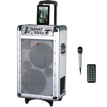 QFX 2 x 8 Battery Powered Bluetooth PA Speaker - $224.16