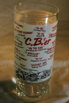 "Vintage C'Ber 6 3/8"" tall Trucker Beer Glass - $6.29"
