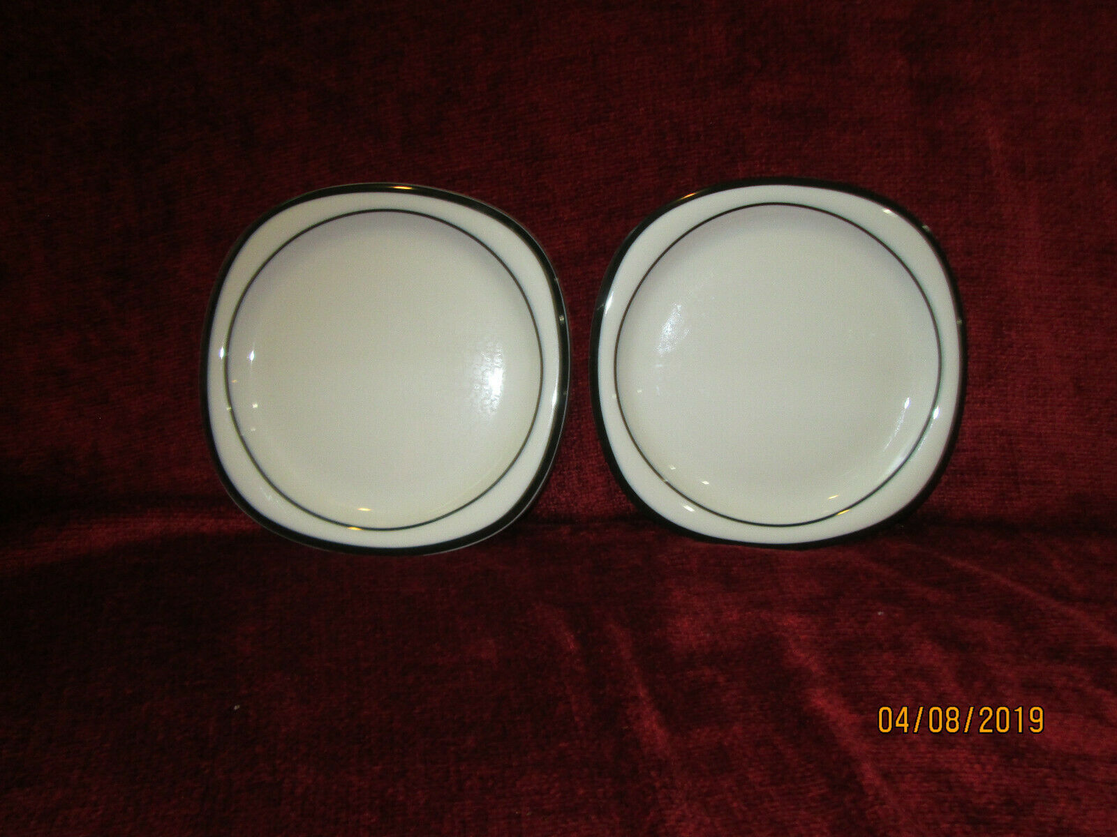 Primary image for ROSENTHAL CONCEPT 5 ANTHRACITE black set of 2 bread plates 6 1/4""
