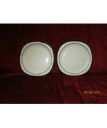 "ROSENTHAL CONCEPT 5 ANTHRACITE black set of 2 bread plates 6 1/4"" - $19.75"