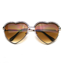 Cute Chic Heart Shape Glam Rhinestone Heart Sunglasses - $7.53