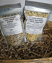 Ground Ginger Root Moringa Leaf and Seed Capsule Value Packs Ginger Root + Morin