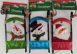 Christmas Ornaments Glass Metal Sleds 1 Ct/Pk  SELECT: Theme - $2.99