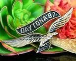 Vintage 1987 daytona motorcycle rally eagle soaring pin jacket biker thumb155 crop