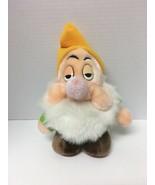 Sleepy Snow White And The Seven 7 Dwarfs Plush Walt Disney Theme Park Ex... - $25.19