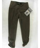 Lisse Womens Brown Ruched Crop Leggings Medium - $39.59
