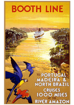 Art print POSTER Booth Line Amazon Portugal Brazil Cruise - $3.95+