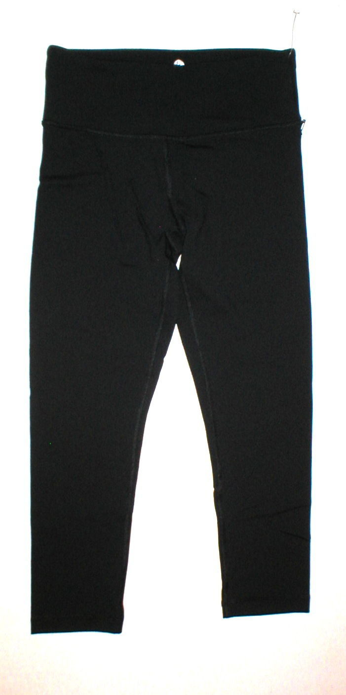 New NWT $80 Womens XS New 90 Degree Reflex Leggings Pants Yoga Black Crop Capris image 2