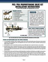 """1"""" Bore Master Cylinder, GM Universal ,  4 Port Disc Drum, & Prop Valve Kit image 7"""