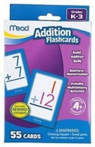 Mead Addition Flashcards with Reward Stickers Memorization 55 Cards Grad... - $8.00