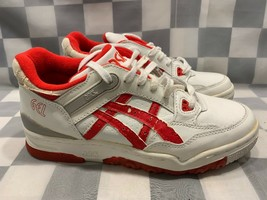 Vintage ASICS Gel Women's Shoes Size 7.5 White Red Al-81 - $44.54