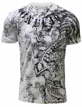 Konflic MMA Men's Liberty All Over Graphic T-Shirt 757-WH - £13.59 GBP