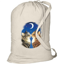 Moonlight Kiss Cats New Laundry Bag Camp Tote Gifts Event - $28.07 CAD