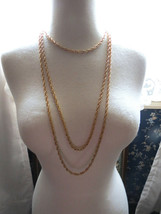 VTG Trifari Necklace Crown Mult Chain Gold Plate Couture Torsade Festoon... - $52.46