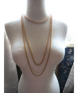 VTG Trifari Necklace Crown Mult Chain Gold Plate Couture Torsade Festoon... - $52.46