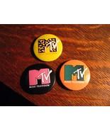 MTV Vintage Lapel Pins - Vintage 1984 Music Television TV Set (3) Networ... - $24.74