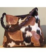 Ponyhair Handbag Leather Calf CowHide Satchel Tote Shoulder Bag Made In ... - $95.00