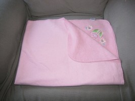 Circo pink infant Blanket, baby girl Tulip Flowers fleece Target cotton ... - $414,78 MXN