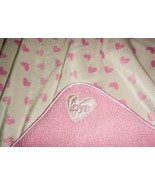 Carter's Child of Mine Love Baby Blanket White Pink Heart Polka Dot Sherpa - $39.58