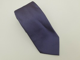 "Kenneth Cole Reaction Mens Necktie 100% Silk 59""x3.75"" Purple Blue Dot H... - $14.50"