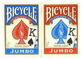Bicycle Poker Size Jumbo Faces Standard Index Playing Cards, 4 Piece - $10.75