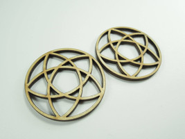 2x Wooden Earring Circle Patterns for Crafts - Laser Cut - $2.73