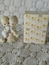 Enesco Precious Moments Porcelain Love One Another Figure 1978 - $9.69