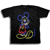 Mickey Mouse Neon Youth Tee Shirt Black - $22.98
