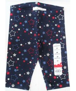 Jumping Beans Toddler Girls Patriotic Star Pedal Pusher Leggings Pants 12mo - $11.99