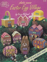 Easter Egg Village, American School of Needlework Plastic Canvas Pattern 3120 - $9.95