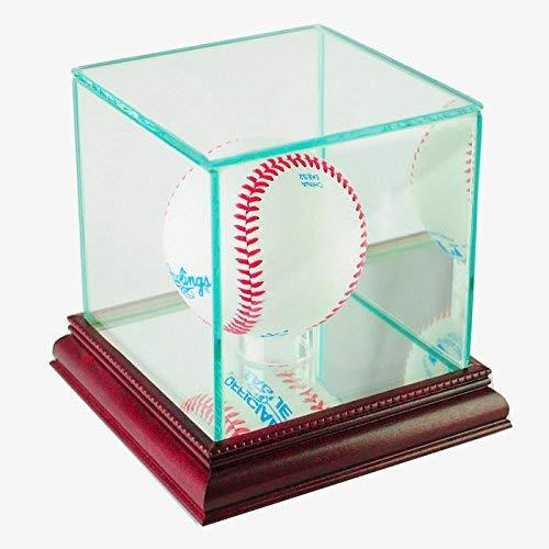 Perfect Cases MLB Single Baseball Glass Display Case, Cherry