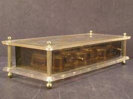1950's Modern Lucite Acrylic Musical Mechanical Triple Wind Up Dresser M... - $49.95