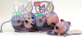 3 Hartz Just For Cats Swat Play Pattern Coordination 2 Ct Bell Mouse Cat... - £15.36 GBP