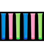 6pc-Luau Tiki Bar-TEST TUBES SHOOTER SHOT GLASSES-Blacklight Party Drink... - $3.93